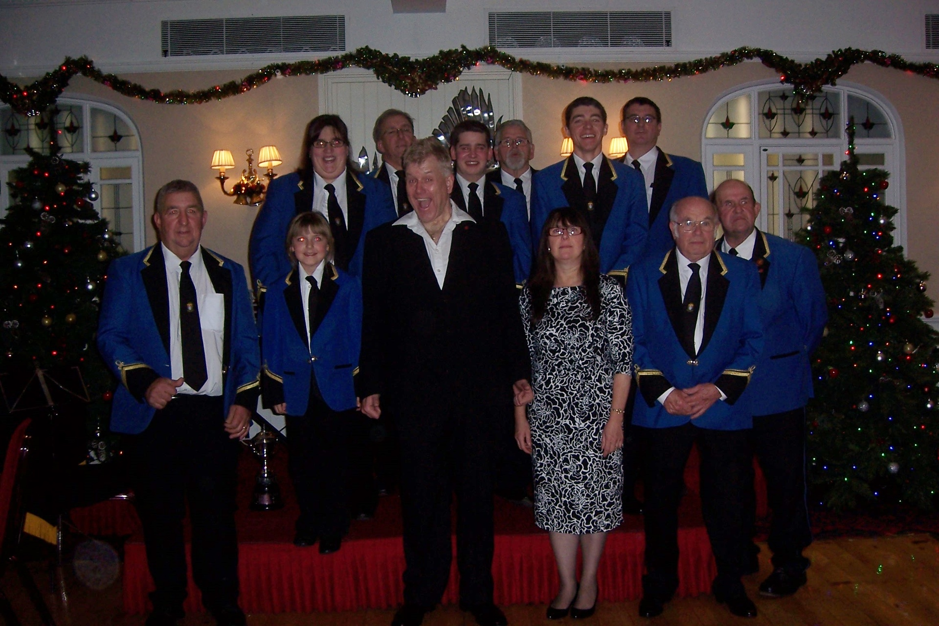 The band with Tank Sherman at their Christmas Concert