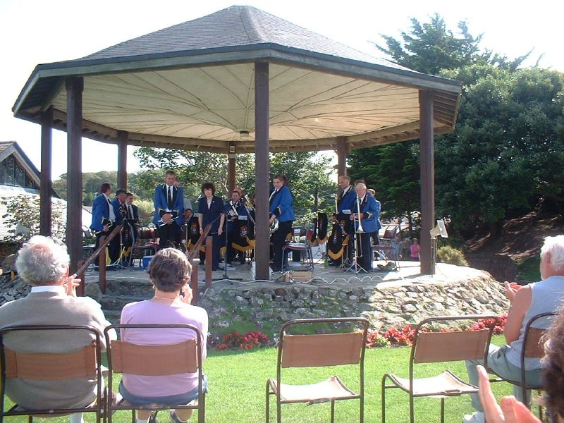 BUDE TOWN BAND AT THE BUDE BANDSTAND