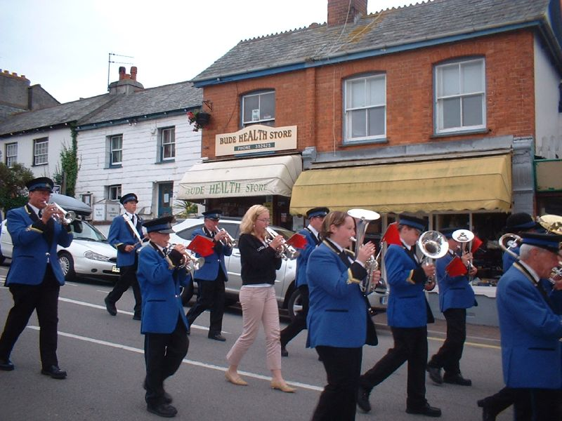 BUDE TOWN BAND MARCHING